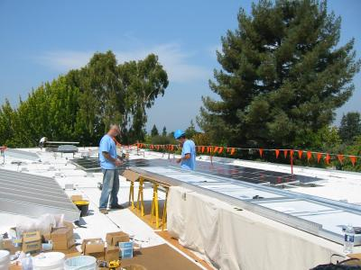 Washington Elementary solar panel installation